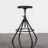 AKRON COUNTER STOOL WITH LEATHER SEAT 12
