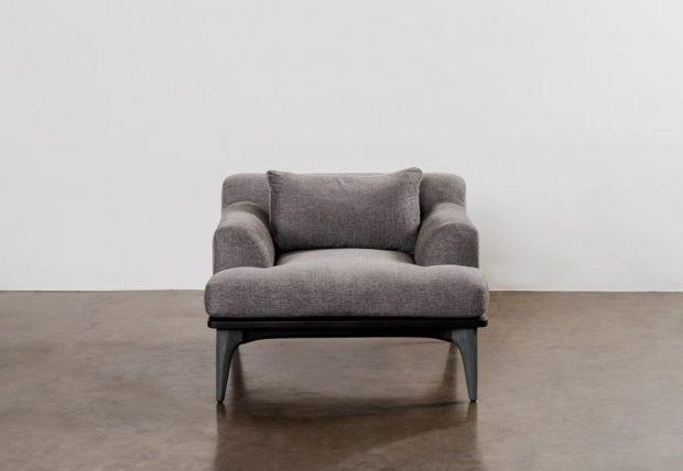 Salk armchair dark legs