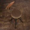AKRON COUNTER STOOL WITH BACKREST AND LEATHER SEAT 1