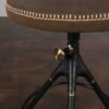 AKRON COUNTER STOOL WITH BACKREST AND LEATHER SEAT 3
