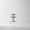 AKRON BAR STOOL WITH BACKREST & LEATHER SEAT 10