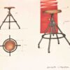 AKRON COUNTER STOOL WITH LEATHER SEAT 7