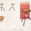 AKRON LOW STOOL WITH LEATHER SEAT 7