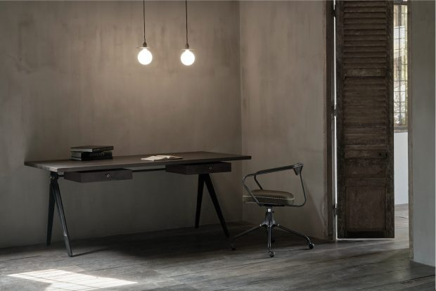 Akron Desk Chair and compass desk