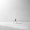 AKRON LOW STOOL WITH LEATHER SEAT 1