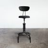 Buck counter stool with backrest black front