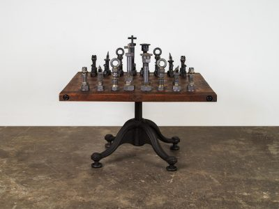CHESSBOARD TABLE- EXHIBITION SAMPLE
