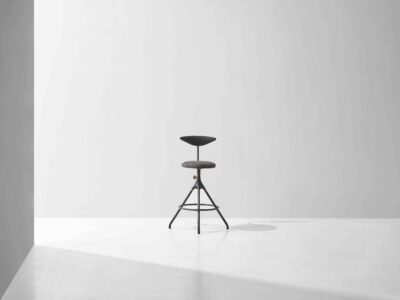 AKRON COUNTER STOOL WITH BACKREST EXHIBITION SAMPLE