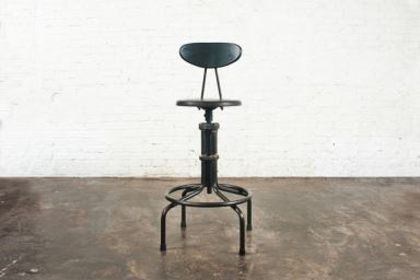 L'USINE COUNTER STOOL WITH BACKREST