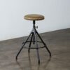AKRON COUNTER STOOL WITH LEATHER SEAT 2