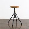 AKRON COUNTER STOOL WITH LEATHER SEAT 13
