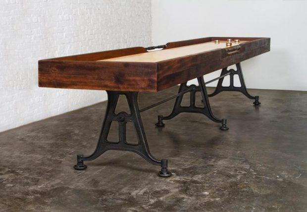 Shuffleboard table reclaimed wood