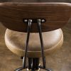 BUCK COUNTER STOOL WITH BACKREST 2