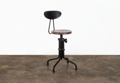 L'USINE LOW STOOL WITH BACKREST
