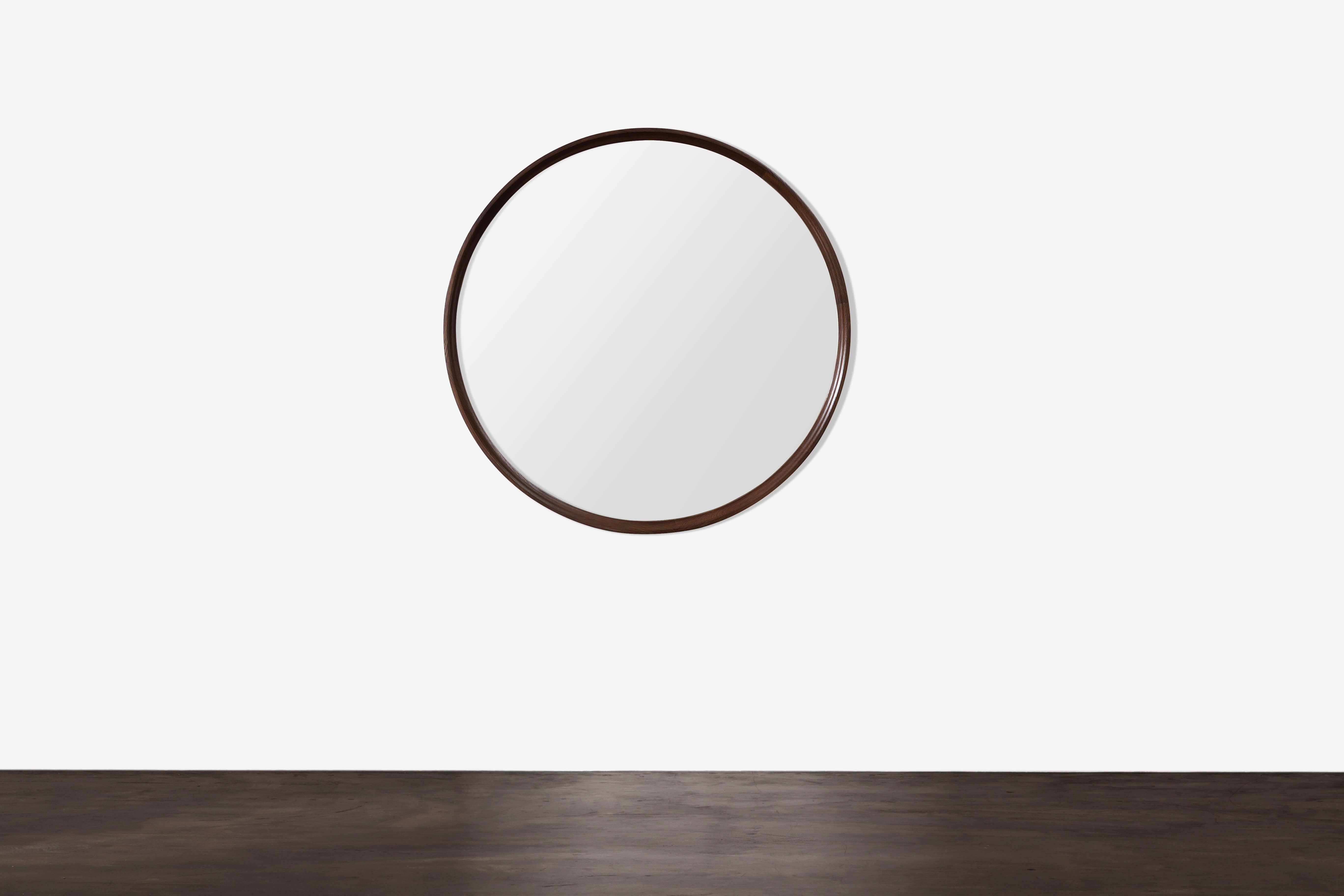 XL District round mirror