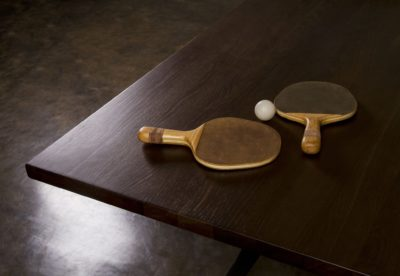 PING PONG TABLE – SMOKED OAK