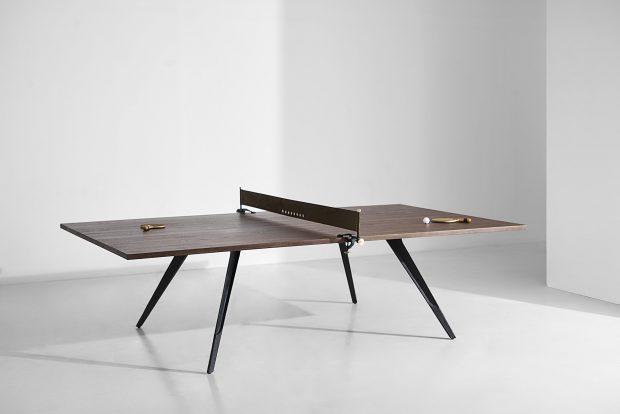 Ping pong table smoked oak