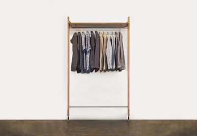 THEO WALL UNIT WITH CLOTHING RAIL