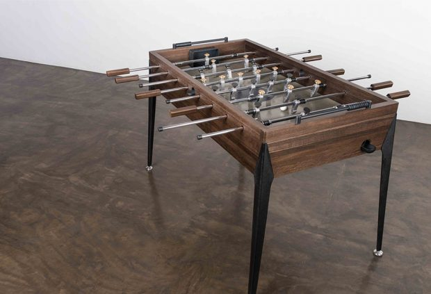 FOOSBALL TABLE- SMOKED OAK 1