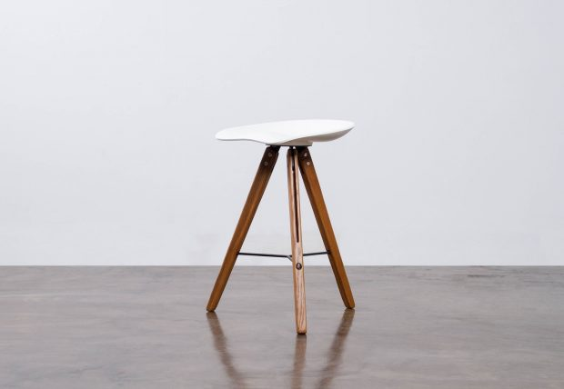 Theo Tractor Counter Stool white