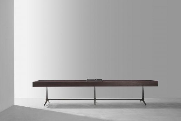 Shuffleboard Table Smoked oak