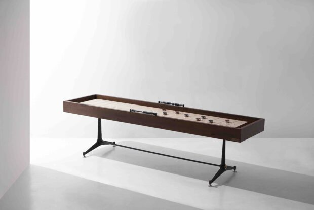 Shuffleboard table smoked oak