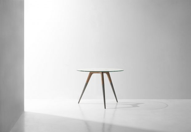 Assembly bistro table hard fumed oak