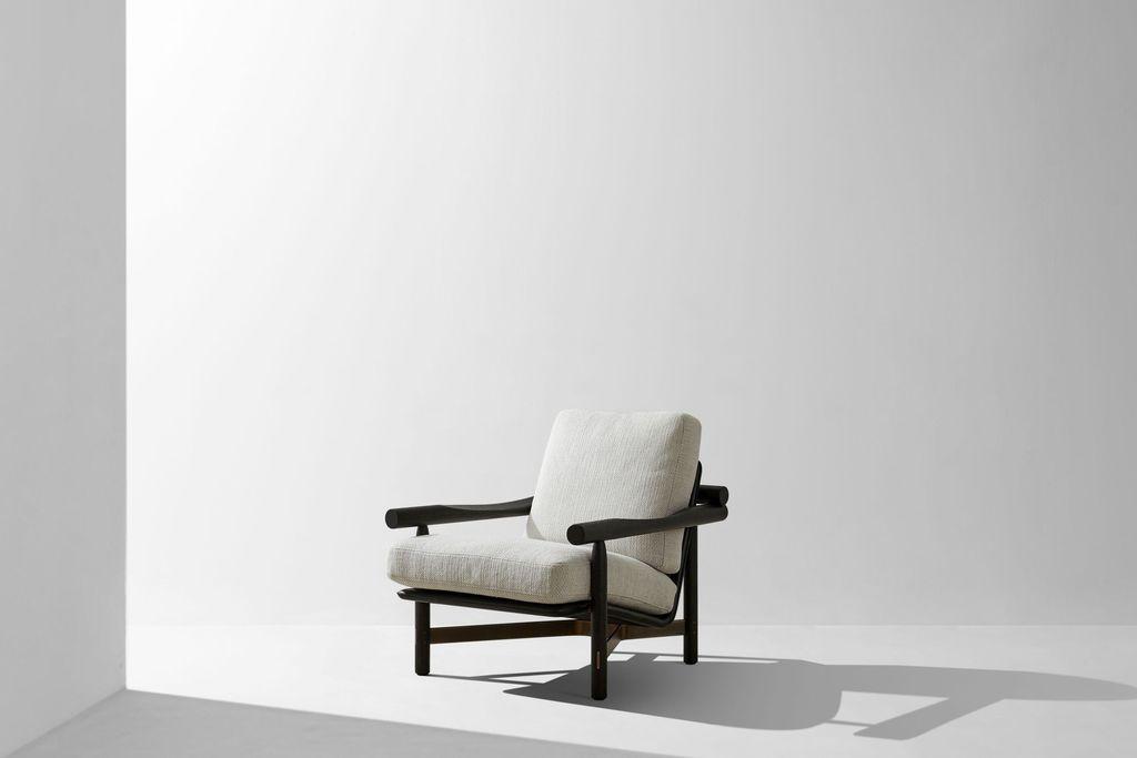 Dunke Design Stilt Armchair Ebonized