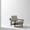 Stilt armchair Ebonized