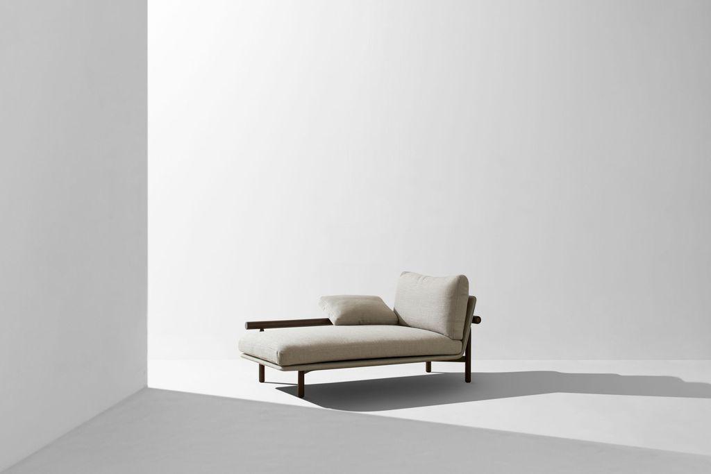 Dunke Design Stilt Chaise Smoked Oak